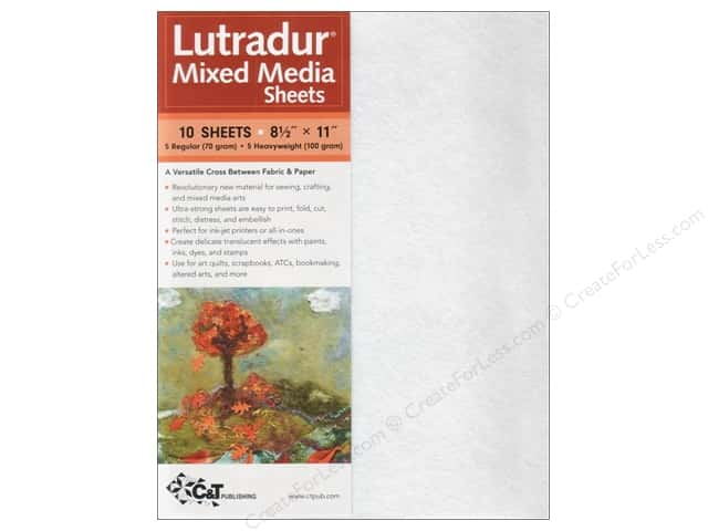 C&T Publishing Lutradur Mixed Media Sheets 8 1/2 x 11 in. 10 pc. Assorted