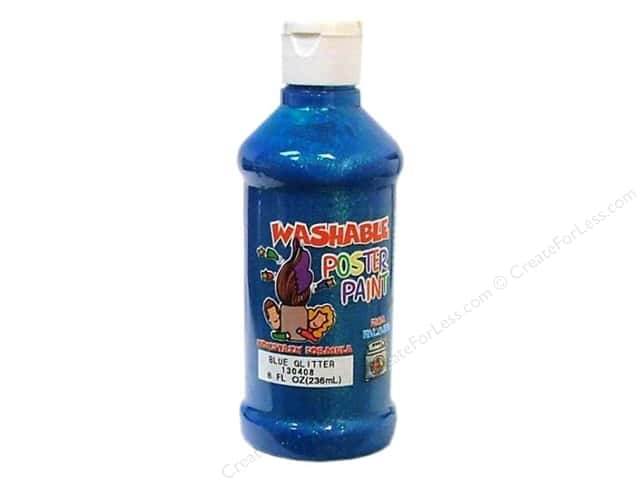 Palmer Washable Glitter Poster Paint 8oz Blue