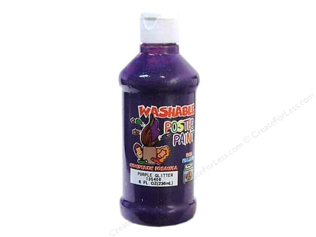 Palmer Washable Glitter Poster Paint 8oz Purple