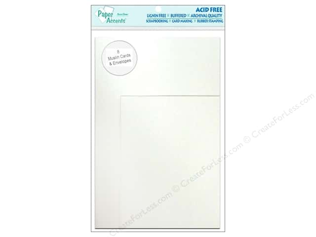 4 1/4 x 5 1/2 in. Blank Card & Envelopes by Paper Accents 8 pc. Muslin Avalanche