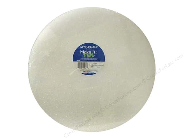 FloraCraft Styrofoam Disc 12 x 1 in. White 1 pc.