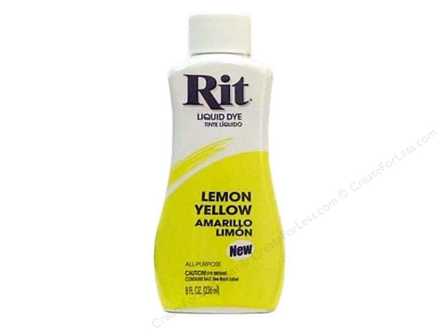 Rit Dye Liquid Dye 8 oz. Lemon Yellow