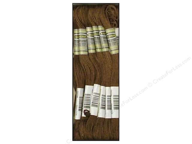 Sullivans Six-Strand Embroidery Floss 8.7 yd. Dark Mocha Brown (12 skeins)
