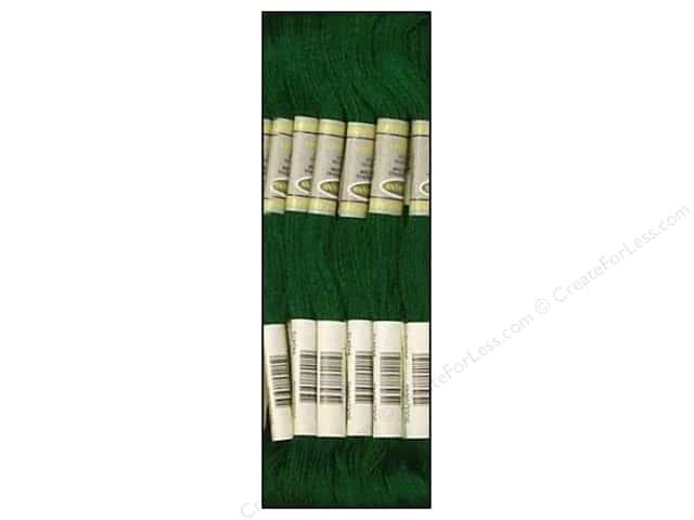 Sullivans Six-Strand Embroidery Floss 8.7 yd. Ultra Very Dark Emerald Green (12 skeins)