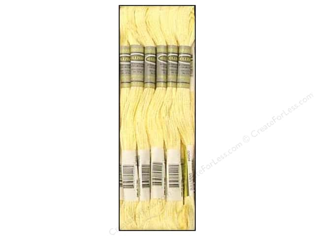 Sullivans Six-Strand Embroidery Floss 8.7 yd. Ultra Pale Yellow (12 skeins)