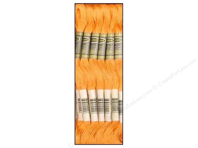 Sullivans Six-Strand Embroidery Floss 8.7 yd. Pale Pumpkin (12 skeins)