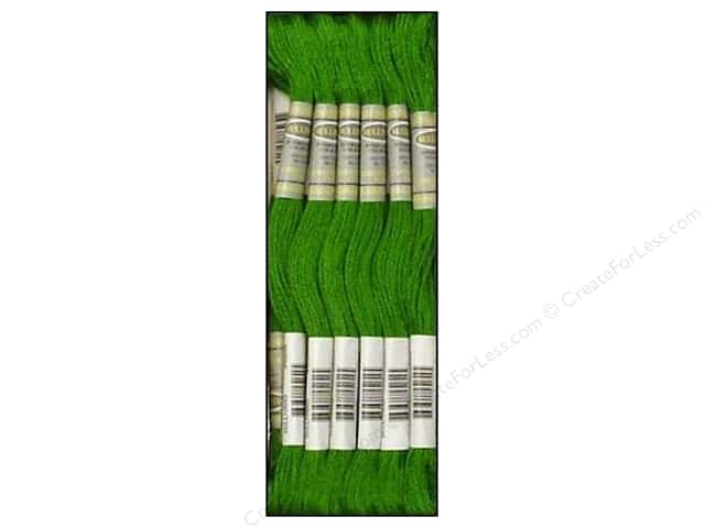 Sullivans Six-Strand Embroidery Floss 8.7 yd. Dark Parrot Green (12 skeins)