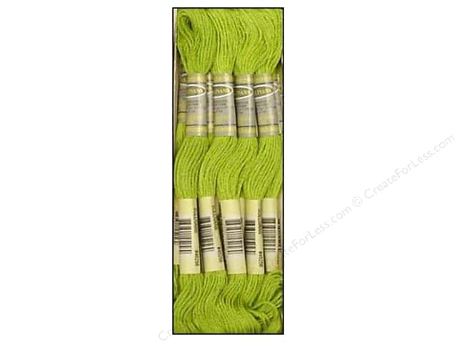 Sullivans Six-Strand Embroidery Floss 8.7 yd. Light Parrot Green (12 skeins)