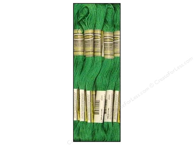 Sullivans Six-Strand Embroidery Floss 8.7 yd. Medium Emerald Green (12 skeins)