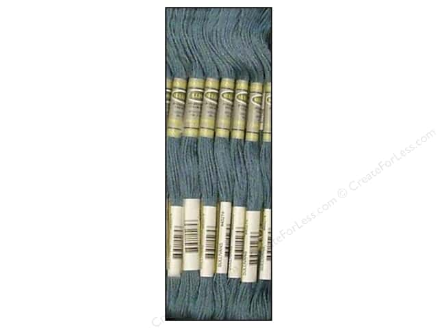Sullivans Six-Strand Embroidery Floss 8.7 yd. Medium Antique Blue (12 skeins)