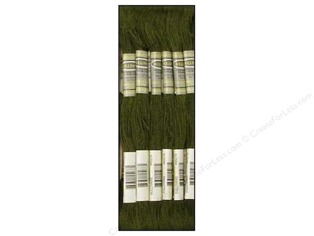 Sullivans Six-Strand Embroidery Floss 8.7 yd. Very Dark Avocado Green (12 skeins)