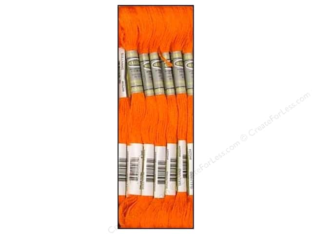 Sullivans Six-Strand Embroidery Floss 8.7 yd. Medium Burnt Orange (12 skeins)