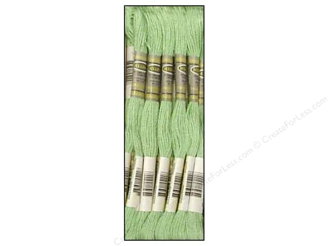 Sullivans Six-Strand Embroidery Floss 8.7 yd. Medium Baby Green (12 skeins)