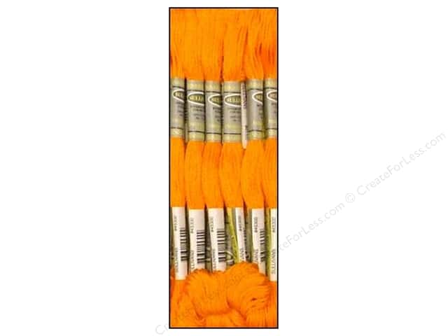 Sullivans Six-Strand Embroidery Floss 8.7 yd. Light Pumpkin (12 skeins)