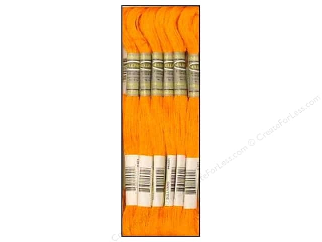Sullivans Six-Strand Embroidery Floss 8.7 yd. Pumpkin (12 skeins)