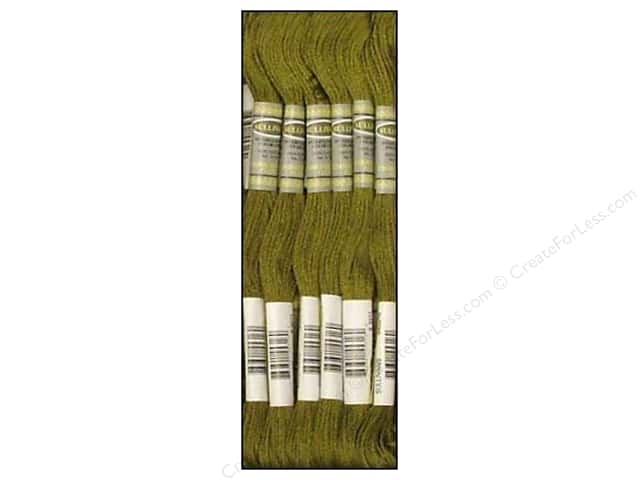 Sullivans Six-Strand Embroidery Floss 8.7 yd. Dark Khaki Green (12 skeins)