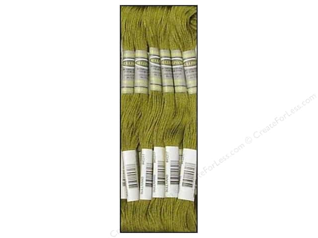 Sullivans Six-Strand Embroidery Floss 8.7 yd. Medium Khaki Green (12 skeins)