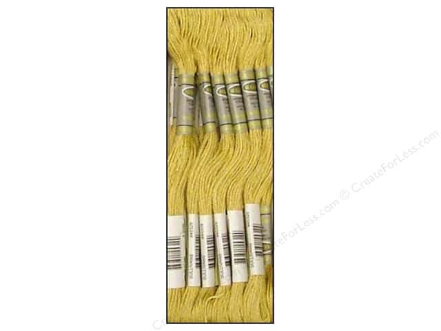 Sullivans Six-Strand Embroidery Floss 8.7 yd. Medium Yellow Beige (12 skeins)