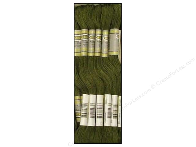 Sullivans Six-Strand Embroidery Floss 8.7 yd. Dark Green Grey (12 skeins)