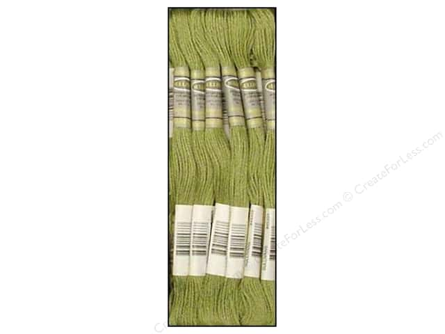 Sullivans Six-Strand Embroidery Floss 8.7 yd. Green Grey (12 skeins)