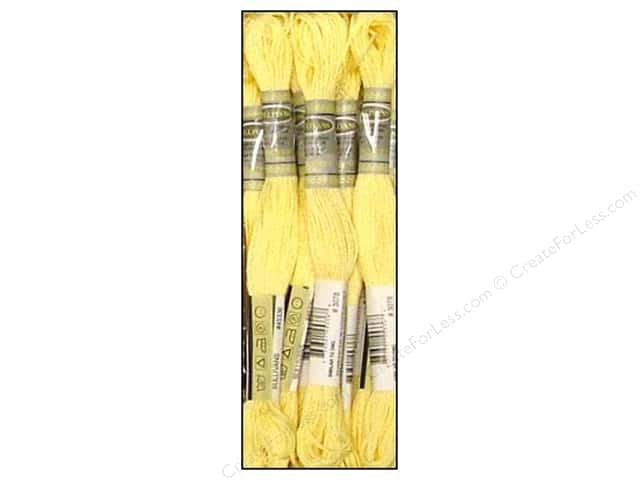 Sullivans Six-Strand Embroidery Floss 8.7 yd. Very Light Golden Yellow (12 skeins)