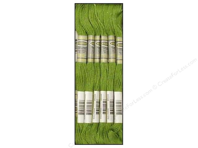 Sullivans Six-Strand Embroidery Floss 8.7 yd. Medium Yellow Green (12 skeins)