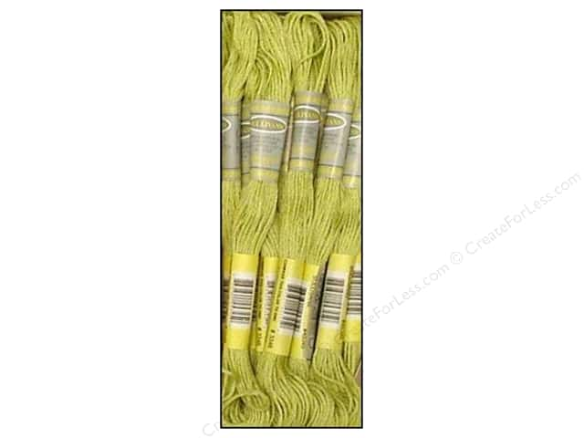 Sullivans Six-Strand Embroidery Floss 8.7 yd. Light Yellow Green (12 skeins)