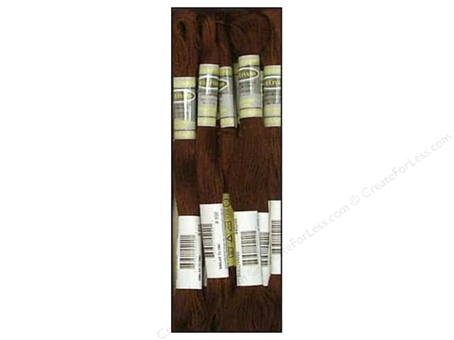 Sullivans Six-Strand Embroidery Floss 8.7 yd. Very Dark Coffee Brown (12 skeins)