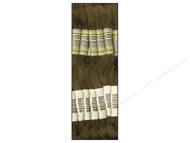 Sullivans Six-Strand Embroidery Floss 8.7 yd. Dark Brown Grey (12 skeins)