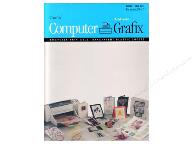 "Grafix Computer Transparent Film 8.5""x 11"" Ink Jet"