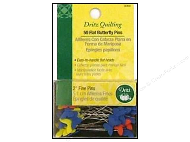 Flat Butterfly Pins by Dritz Quilting 2 in. Fine 50 pc.