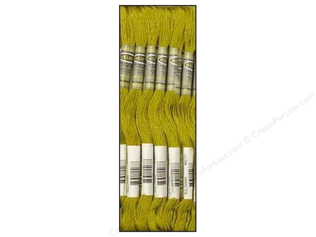 Sullivans Six-Strand Embroidery Floss 8.7 yd. Medium Olive Green (12 skeins)