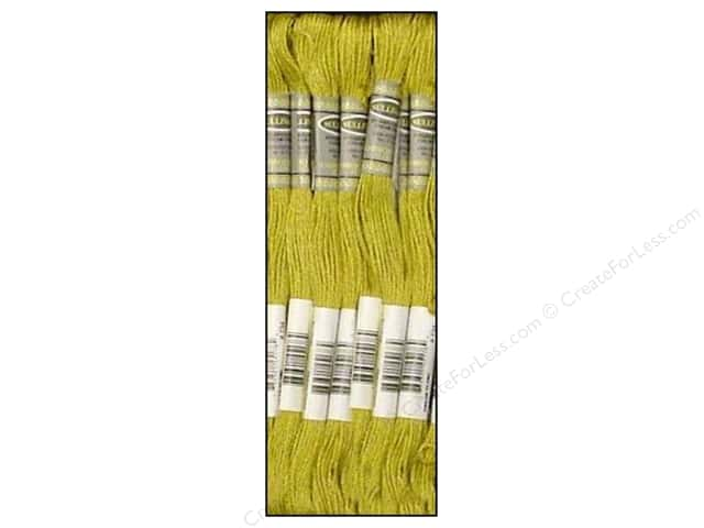 Sullivans Six-Strand Embroidery Floss 8.7 yd. Light Olive Green (12 skeins)