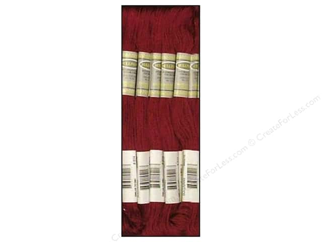 Sullivans Six-Strand Embroidery Floss 8.7 yd. Dark Garnet (12 skeins)