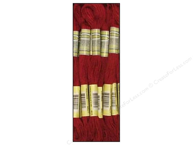 Sullivans Six-Strand Embroidery Floss 8.7 yd. Medium Garnet (12 skeins)