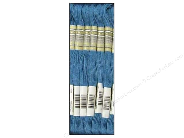 Sullivans Six-Strand Embroidery Floss 8.7 yd. Medium Blue (12 skeins)