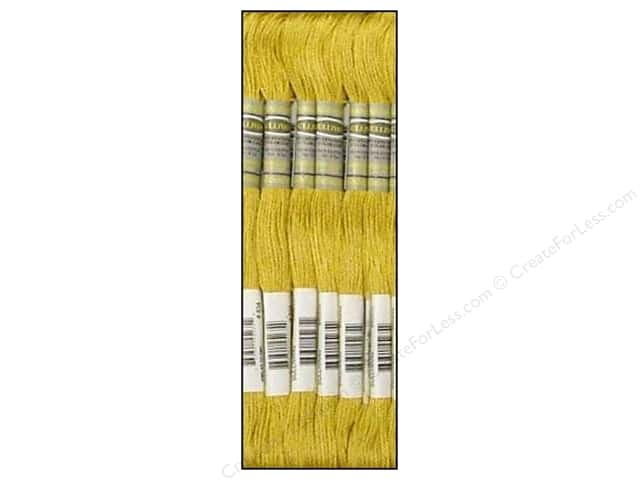 Sullivans Six-Strand Embroidery Floss 8.7 yd. Very Light Golden Olive (12 skeins)