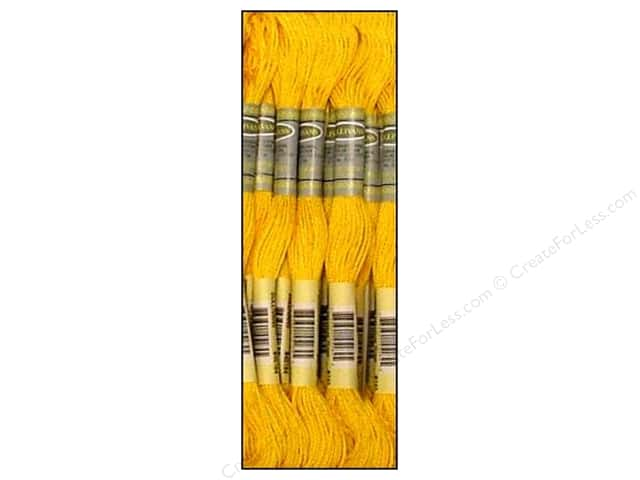 Sullivans Six-Strand Embroidery Floss 8.7 yd. Medium Yellow (12 skeins)