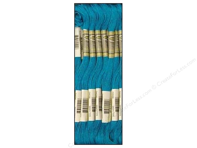 Sullivans Six-Strand Embroidery Floss 8.7 yd. Dark Bright Turquoise (12 skeins)