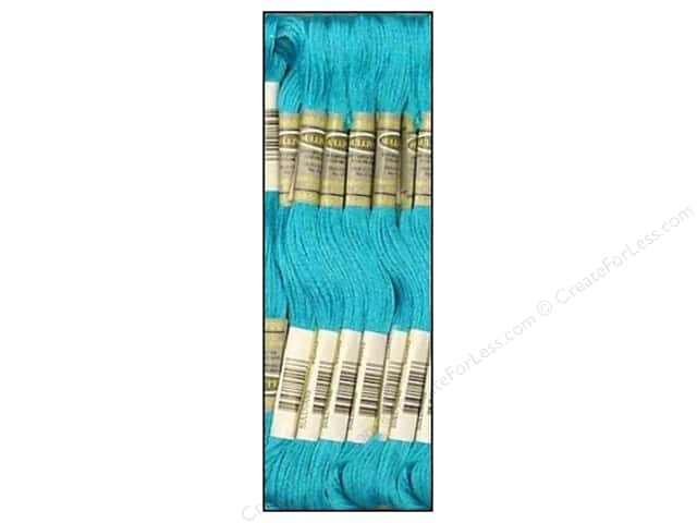 Sullivans Six-Strand Embroidery Floss 8.7 yd. Medium Bright Turquoise (12 skeins)