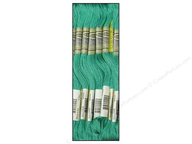 Sullivans Six-Strand Embroidery Floss 8.7 yd. Lt Bright Green (12 skeins)