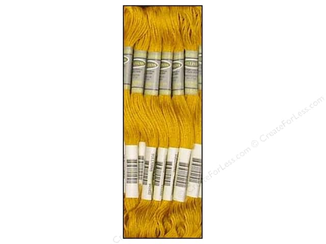 Sullivans Six-Strand Embroidery Floss 8.7 yd. Very Dark Straw (12 skeins)