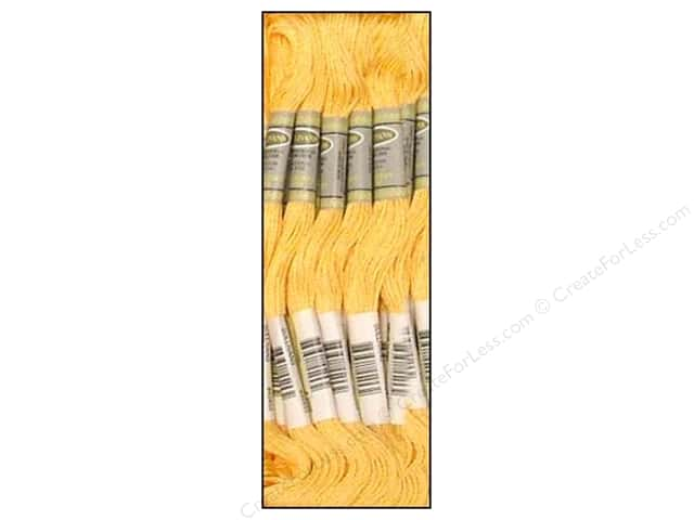 Sullivans Six-Strand Embroidery Floss 8.7 yd. Light Autumn Gold (12 skeins)