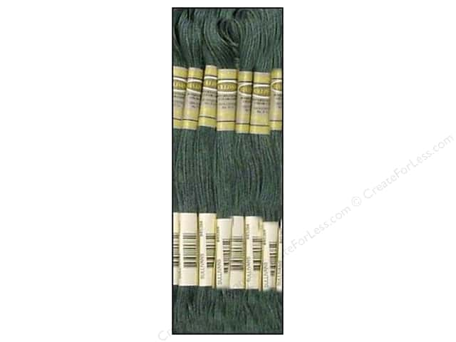 Sullivans Six-Strand Embroidery Floss 8.7 yd. Dark Grey Green (12 skeins)