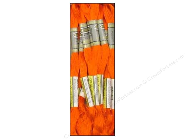 Sullivans Six-Strand Embroidery Floss 8.7 yd. Bright Orange (12 skeins)