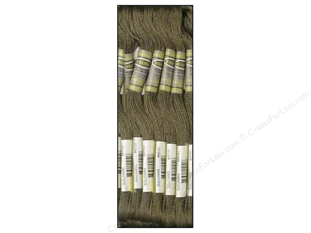 Sullivans Six-Strand Embroidery Floss 8.7 yd. Very Dark Beaver Grey (12 skeins)
