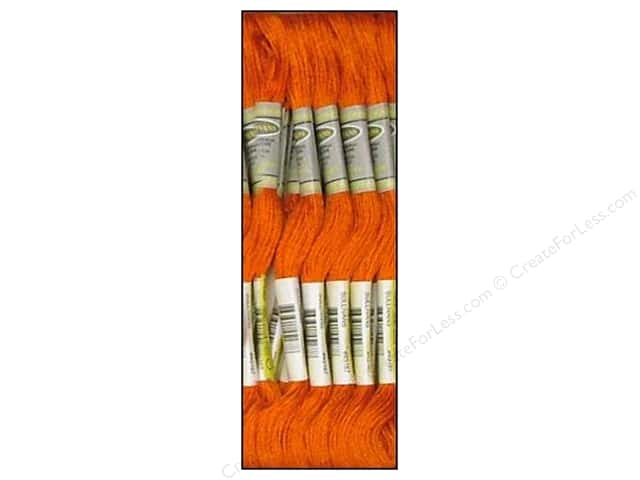 Sullivans Six-Strand Embroidery Floss 8.7 yd. Dark Orange Spice (12 skeins)