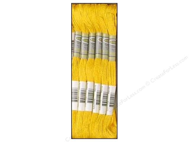 Sullivans Six-Strand Embroidery Floss 8.7 yd. Medium Light Topaz (12 skeins)