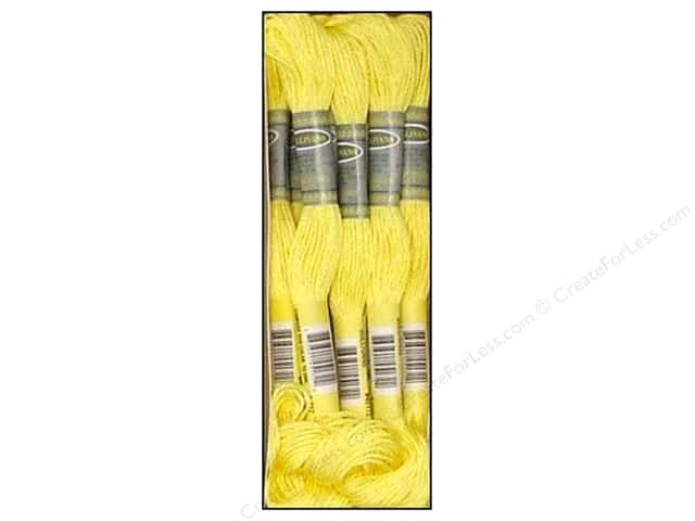 Sullivans Six-Strand Embroidery Floss 8.7 yd. Very Light Topaz (12 skeins)