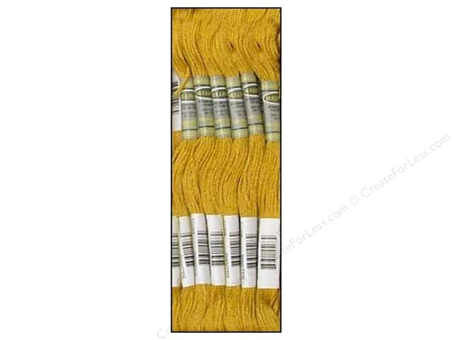 Sullivans Six-Strand Embroidery Floss 8.7 yd. Medium Old Gold (12 skeins)